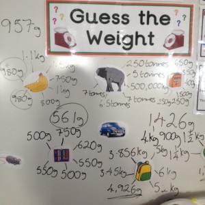 Step 4 Fun with weight in 5th class estimating and measuring D100