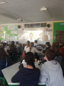 Step 5 6th class skype with AMBER Centre scientists to share in learning about microscopes D100