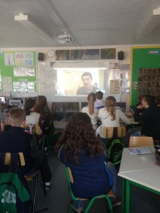 Step 5 6th class skype with scientists in Amber Centre D100