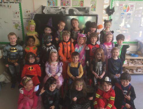 Autumn & Halloween fun in Junior Infants